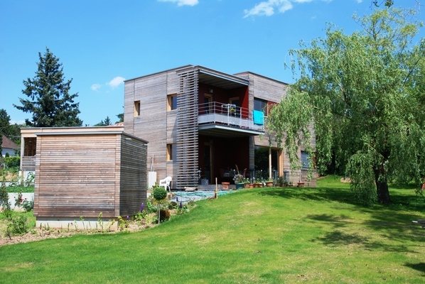 Maison bbc 0913 lyon dardilly 69 maison ossature bois pollen construction bois savoie for Construction maison en bois 69