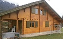 Chalet madrier avant isolation